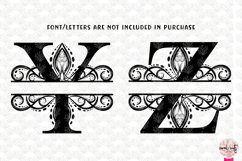 Traditional Split Monogram - Alphabets A to Z EPS SVG DXF Product Image 5