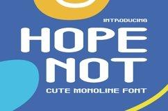 Web Font Hope Not Font Product Image 1
