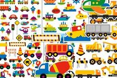 Transportation vehicles clip art graphics bundle Product Image 2