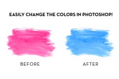 Watercolor Swashes Clipart Set Product Image 5