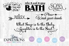 Bathroom Design Quote Bundle // SVG Quotes Product Image 1