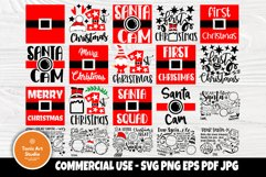 Christmas SVG Bundle, Dear Santa Tray Svg, 1st Christmas Svg Product Image 1