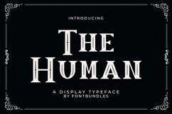 Web Font The Human Product Image 1