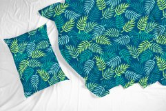 Palm tree leaves navy. Summer tropical seamless pattern. Product Image 5