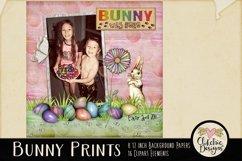 Easter Digital Scrapbook Kit - Bunny Prints Spring Clipart Product Image 4