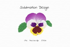 Pansy Flower Bud - Sublimation Design Product Image 1