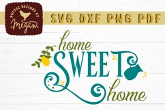 Home Sweet Home Lemon Summer Wood Sign SVG DXF Cut File Product Image 2