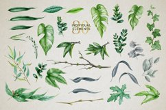 Midori Green Leaf Watercolor Set, Hand-Painted Collection Product Image 2