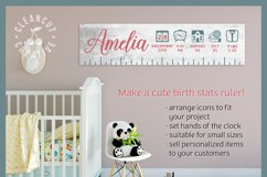 BABY BIRTH STATS - newborn elements - SVG file for crafters Product Image 4