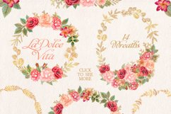 Watercolor glitter floral collection Product Image 4