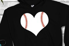 Baseball Heart SVG   Baseball SVG   Sports SVG Product Image 3