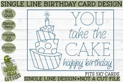 Foil Quill Birthday Card - You Take the Cake / Single Line Product Image 2