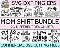 Mom Shirt Bundle of 20 SVG DXF PNG EPS Cutting Files Product Image 1
