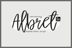 Albret || Multilingual Handwritten Script Font Product Image 1