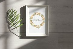 Watercolor autumn wreath. Isolated cliparts Product Image 4