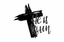 He is Risen SVG cut file. Christian svg. Easter SVG Product Image 2