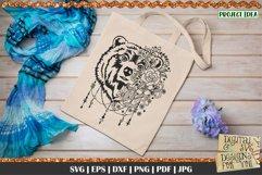 Bear with Flowers SVG   Bear svg   Boho Bear svg   Mama Bear Product Image 4