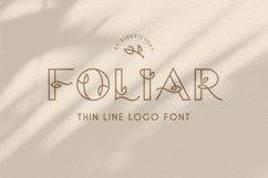 Foliar - Thin Line Logo Font Product Image 1