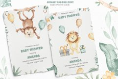 Animals and balloons watercolor Product Image 9