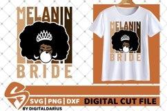Bride svg, Wedding svg, Black Woman, Melanin, Sublimation Product Image 1