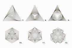 Illusion linear geometric shapes. Ai/SVG/PNG Product Image 6