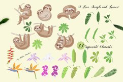 Sloths in Jungle Digital Clipart Product Image 2