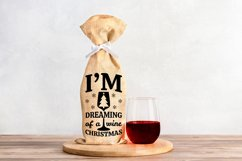 Wine Bag SVG Bundle, Christmas Wine SVG files for Cricut Product Image 7