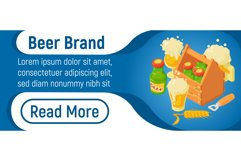 Beer brand concept banner, isometric style Product Image 1