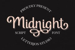 Midnight Script Font Product Image 1