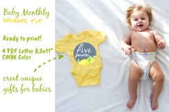 Baby Boy or Girl Monthly Circle Printable Stickers Product Image 4
