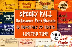 Spooky Fall - Halloween Font Bundle! Product Image 1