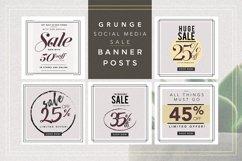 GRUNGE Social media sale banner pack Product Image 1