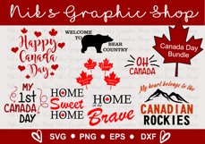 Canada Day SVG, Happy Canada Day SVG, Canada svgs Product Image 1