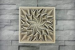 Layered Mandala SVG, Laser cut file, Cricut Mandala, Flower Product Image 1