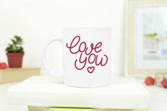 Love you. Hand letttering phrase, vector. SVG Product Image 2