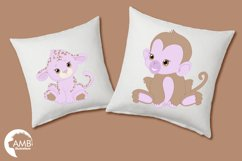 Jungle Babies in lavender clipart, AMB-1212 Product Image 3