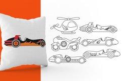 Superhero transportation graphic illustration Product Image 3