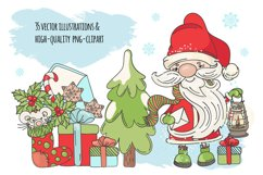CHRISTMAS SONG New Year Santa Music Clip Art Pattern Vector Product Image 2