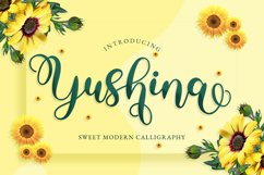 Yushina - Swirly Cute Script Product Image 1