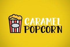 Crunchy Popcorn || cute display font Product Image 2