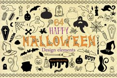 Halloween Doodle Vector clipart Product Image 2