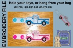 ITH Truck Key Fob - Embroidery Design Product Image 2