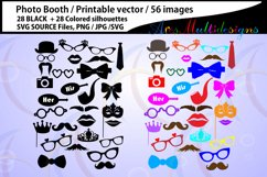 photo booth svg / Props svg / 28B + 28C / photo booth props / cut files /SVG/ vector / PNG / clipart / colored / props / props cut file Product Image 1