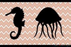 Sea animals silhouette / vector sea animal / sea animal SVG file / EPS vector / sea animals clipart Product Image 4