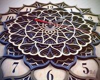 C18 - Laser Cut Wall Clock DXF, Mandala Clock, Wooden Clock Product Image 4
