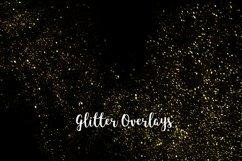 Yellow Glitter Overlays, Gold Glitter Bokeh Overlays Product Image 1