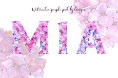 Purple pink hydrangea floral Alphabet Product Image 4