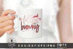 Follow the Bunny SVG | Easter SVG | Bunny SVG Cut File Product Image 2