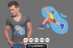 Playing Basketball for T-Shirt Design Product Image 1