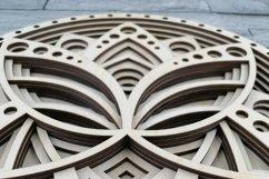 Layered Mandala SVG, Laser cut file Mandala, 3D Lotus Product Image 3